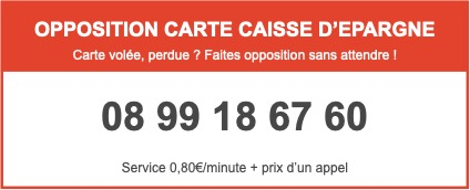 caisse d épargne opposition carte Opposition Carte Bancaire   Caisse d'Épargne