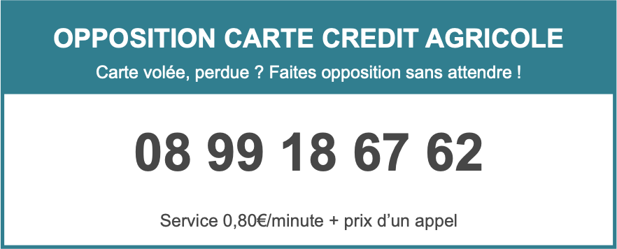 Opposition Carte Bleue.Opposition Carte Bancaire Credit Agricole